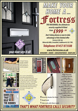 Make Your Home A Fortress - The Rockdoor from £999 supplied and fitted by Fortress NW Ltd.
